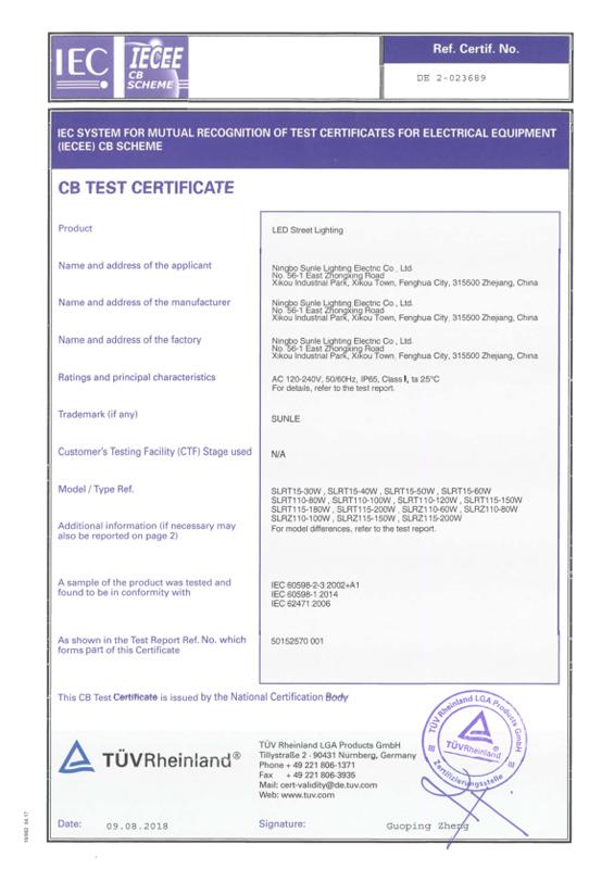 Certificado CB